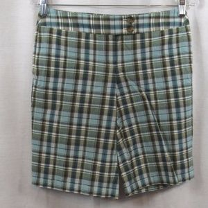 Ann Taylor Multi Color Plaid Shorts 0P